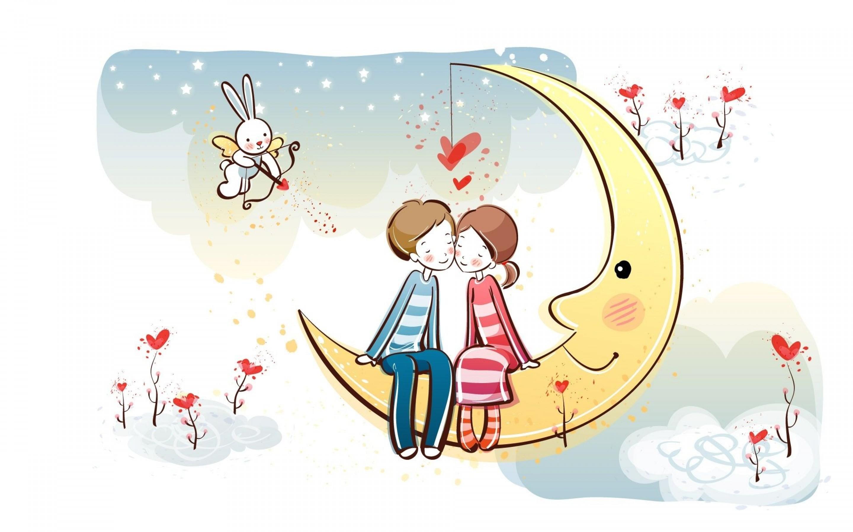 七夕情人节唯美浪漫海报素描 七夕情人甜蜜爱情祝福短信
