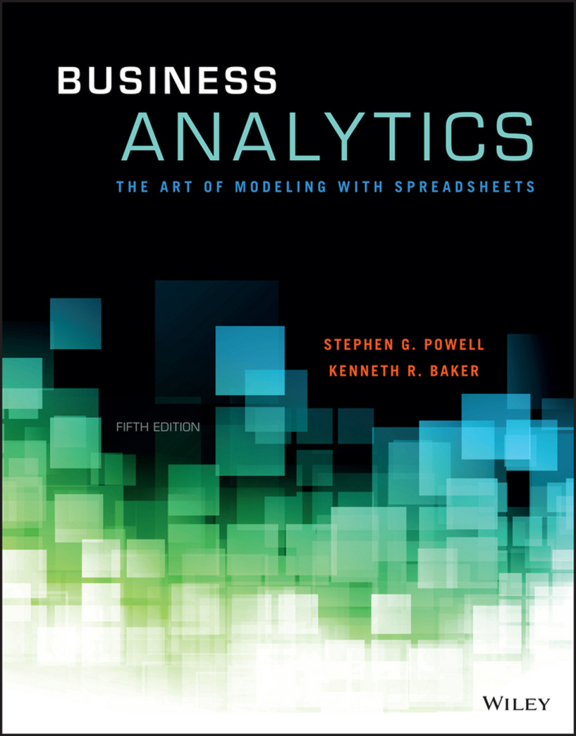 Business Analytics - The Art of Modeling With Spreadsheets,5ed.jpg