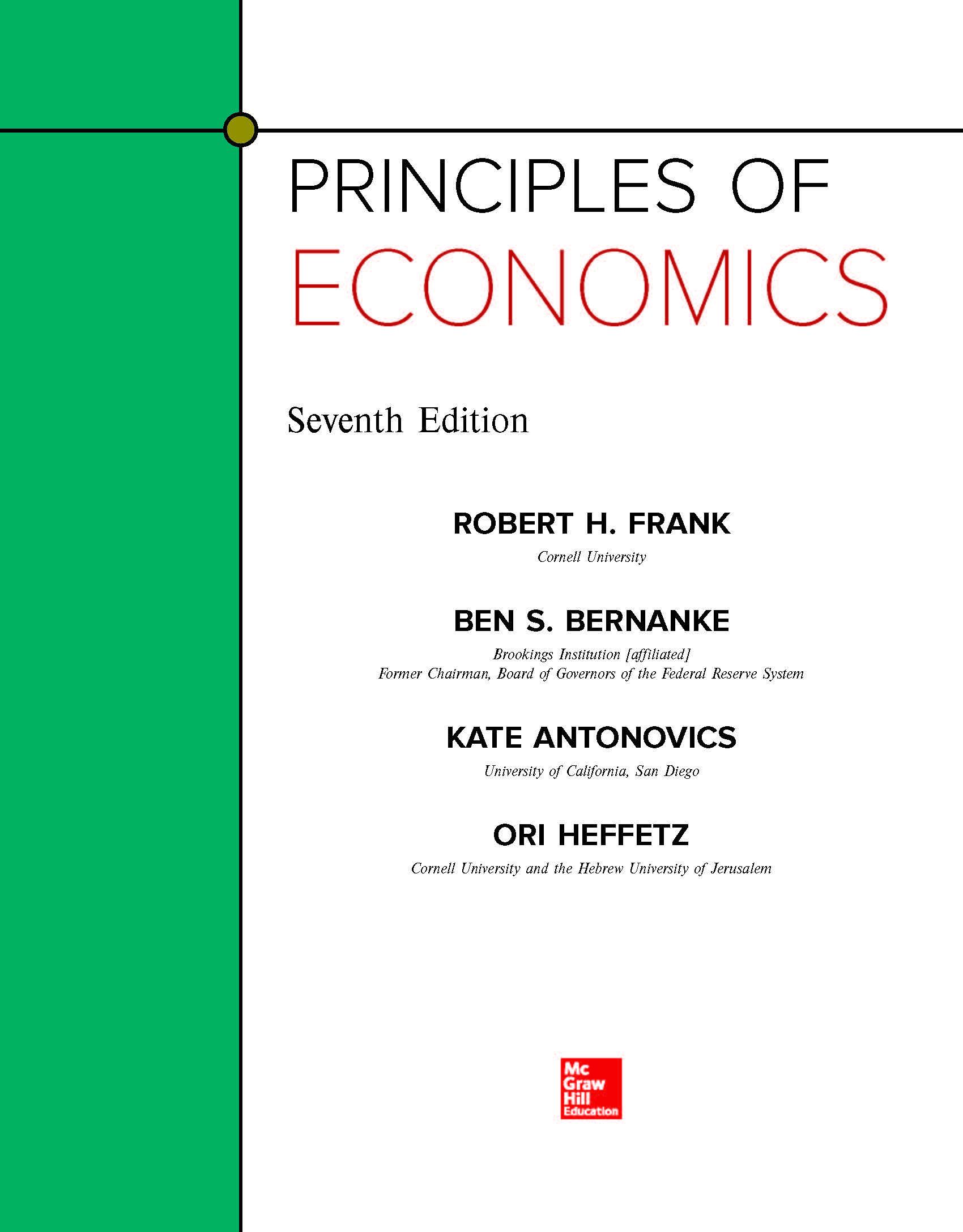 principles of economics cte 8 版