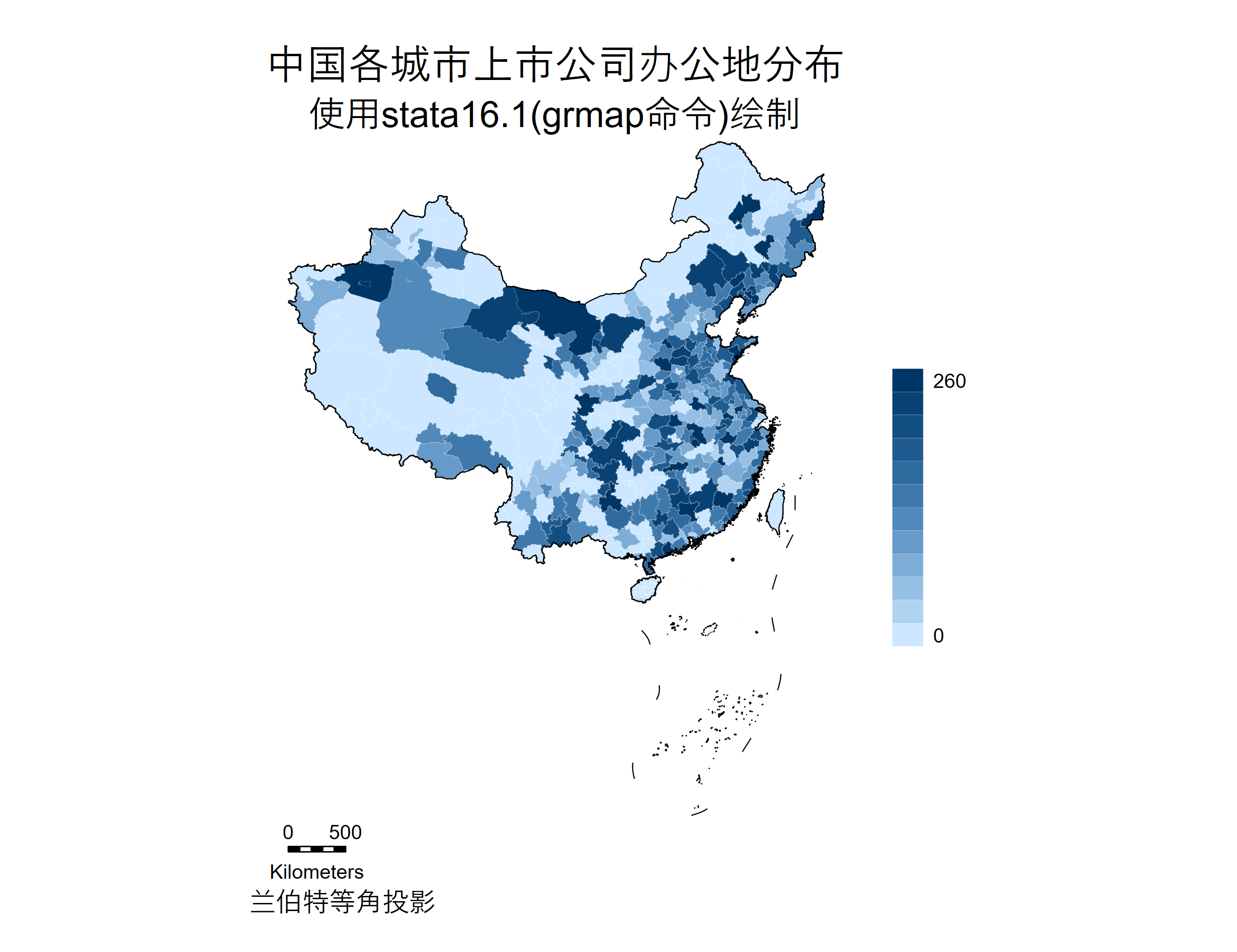 中国各城市上市公司办公地分布.png